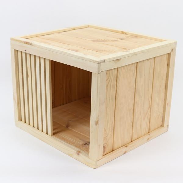 원목 강아지집 Box type A 중형 (무도장)