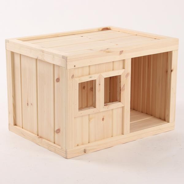 원목 강아지집 Box type B 중형 (무도장)