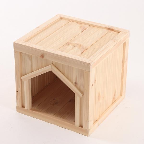 이너피스 원목 강아지 집 박스타입 C 소형 (실외용)