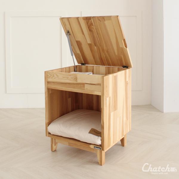 챗샤 릴케 강아지 고양이 나무 하우스 사이드 테이블