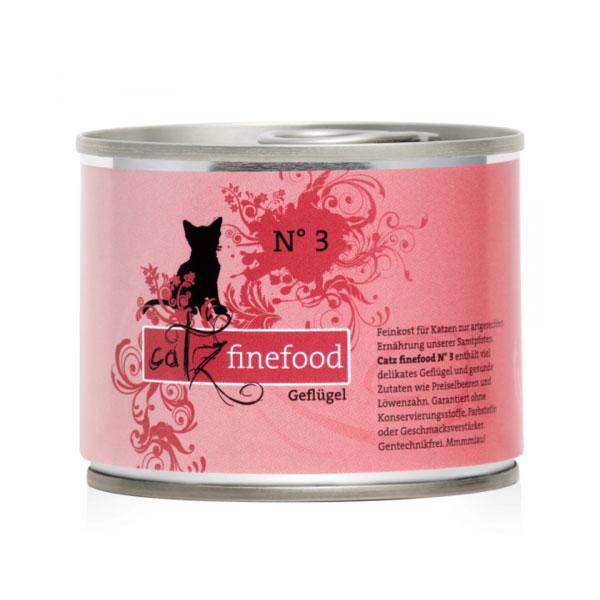 (유통기한21.10.30)캣츠파인푸드 고양이 캔 NO.3 가금류 200g