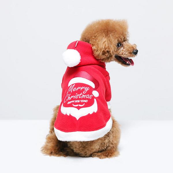 크리스마스 기쁜우리성탄절 강아지 산타 옷