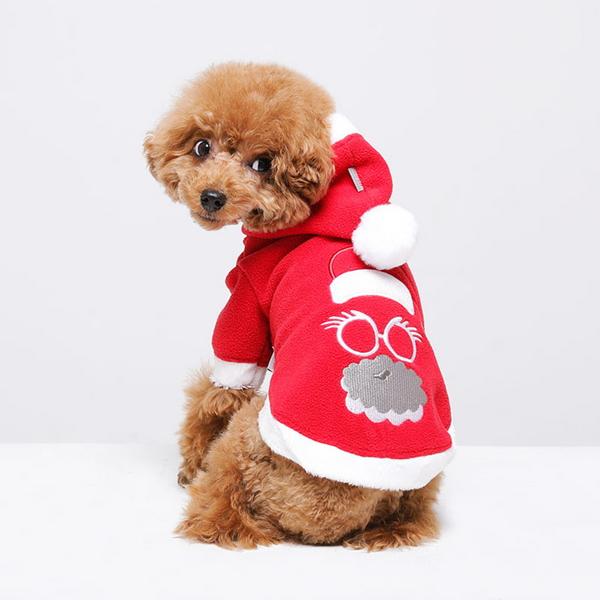 크리스마스 산타지킴이 강아지 산타옷