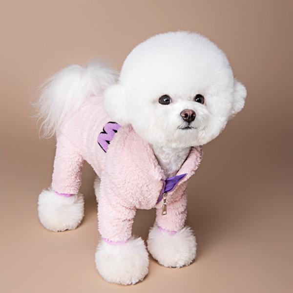 롤리팝 강아지보아털 올인원 핑크