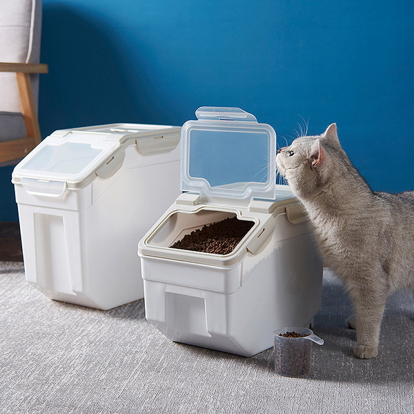 강아지 고양이 신선 사료 대용량 보관통