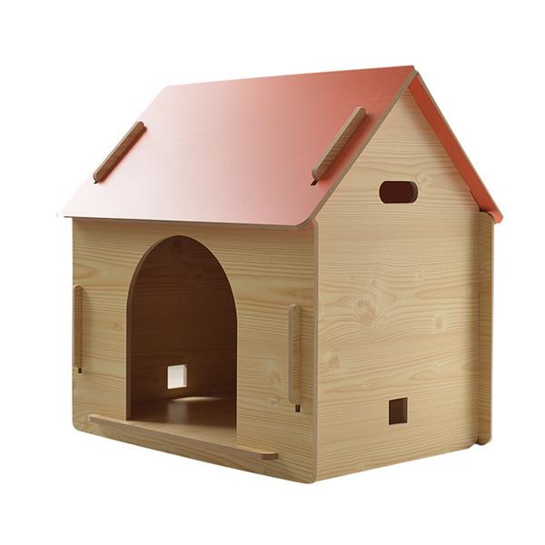 강아지 고양이 DIY 박공지붕 원목 하우스