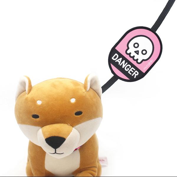 멍랩_옐로와펜 DANGER 강아지 인식표