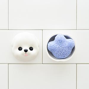 앙펫 강아지 발바닥모양 청대 천연 비누 페퍼민트 향