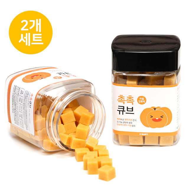 뽀시래기 산양유 촉촉큐브 단호박트릿 180g (2개세트)