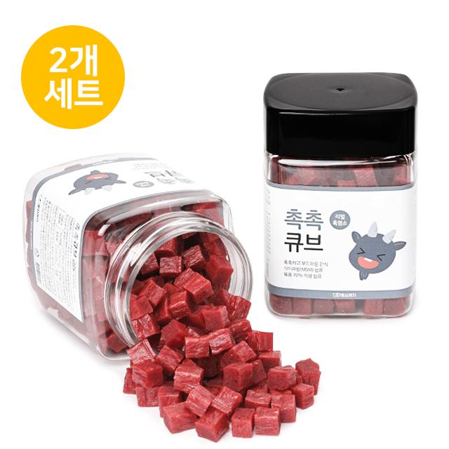 뽀시래기 국내산 촉촉큐브 흑염소트릿 180g (2개세트)
