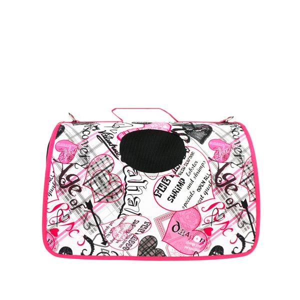 피플펫 강아지 고양이 천국 이동가방 핑크 M
