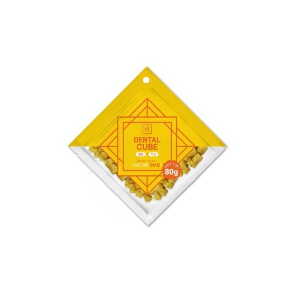 브리더랩 덴탈큐브 황태 치즈 간식 80g