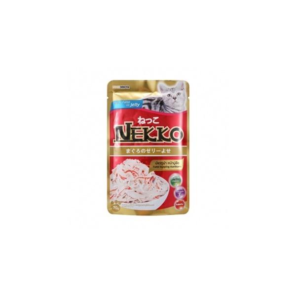 네코 고양이 간식 참치 게맛살 파우치 70g