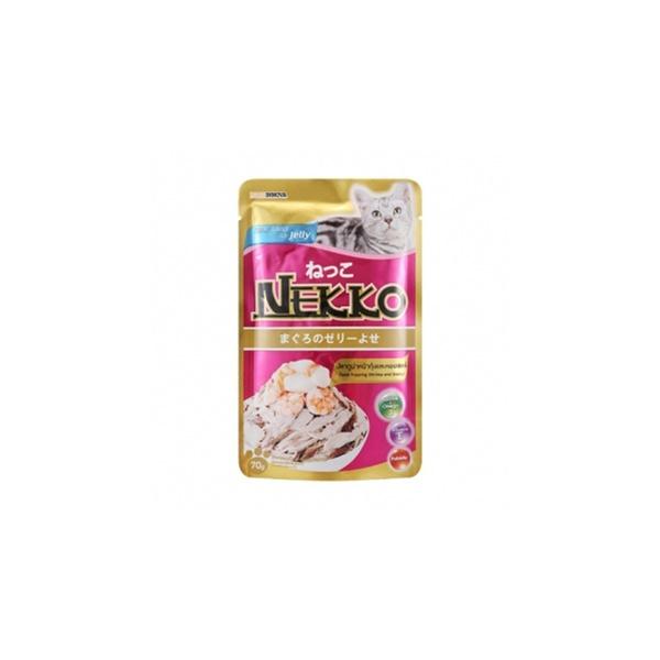 네코 고양이 간식 참치 새우 가리비 파우치 70g