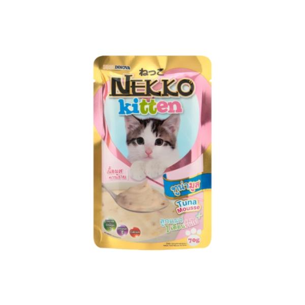 네코 고양이 간식 파우치 키튼 참치 무스 70g