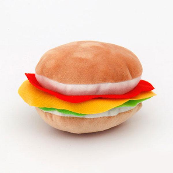 펫모닝 치즈 버거 인형 장난감
