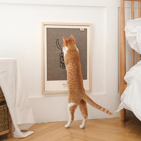 키트니 고양이 명화 카페트 스크래쳐