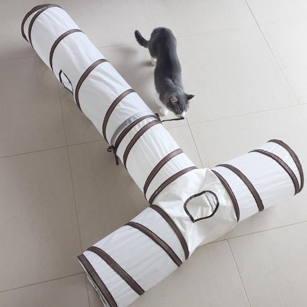발라당 고양이 행동유발 놀이터 터널 (T, Y-type)