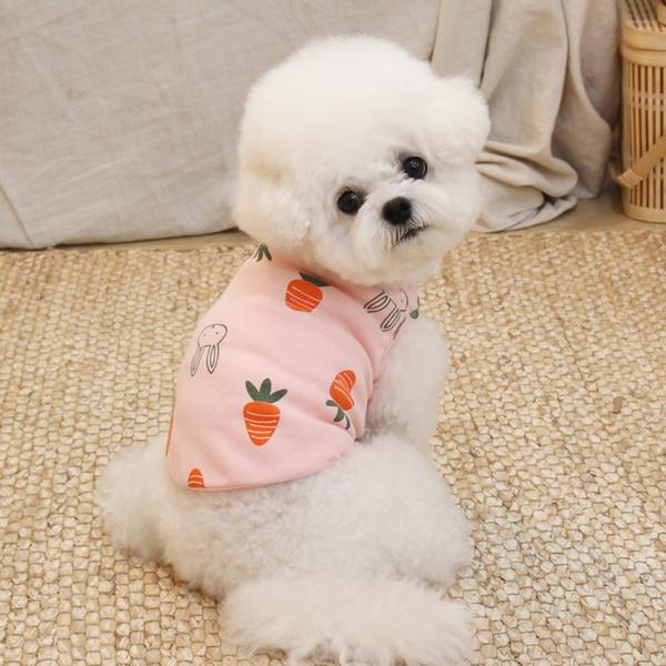 오드펫 뉴 데일리 베베 티셔츠 - 당근토끼(핑크)