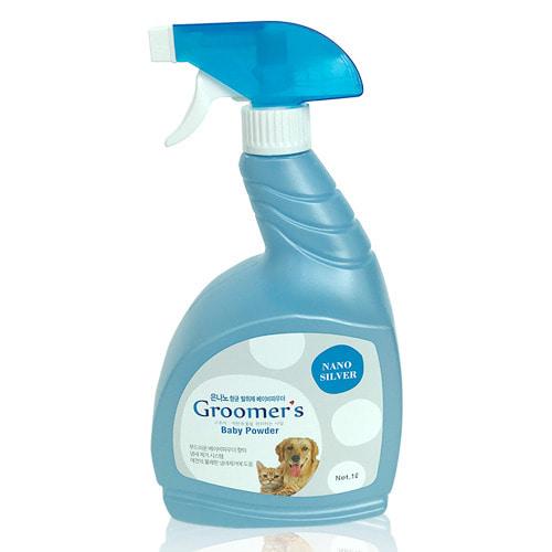 그루머스 은나노 향균 탈취제 베이비파우더향 1L