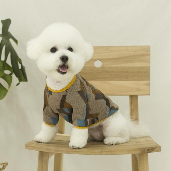 카인드 강아지 가을 니트 브라운