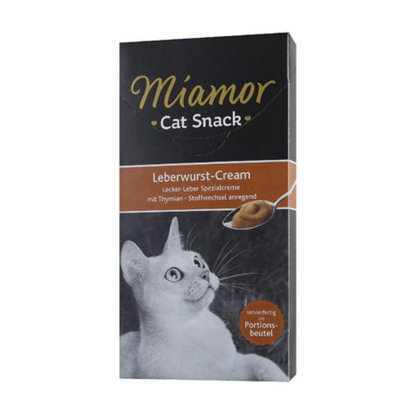미아모아 고양이 간식 스낵 소시지 크림 15g 6개입