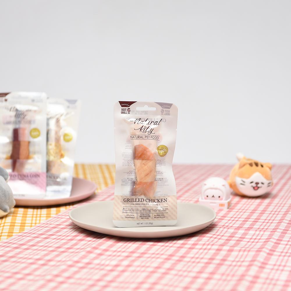 내추럴키티 고양이 간식 그릴 닭고기 30g