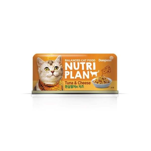 뉴트리플랜 고양이 캔 참치와 치즈 160g 6개