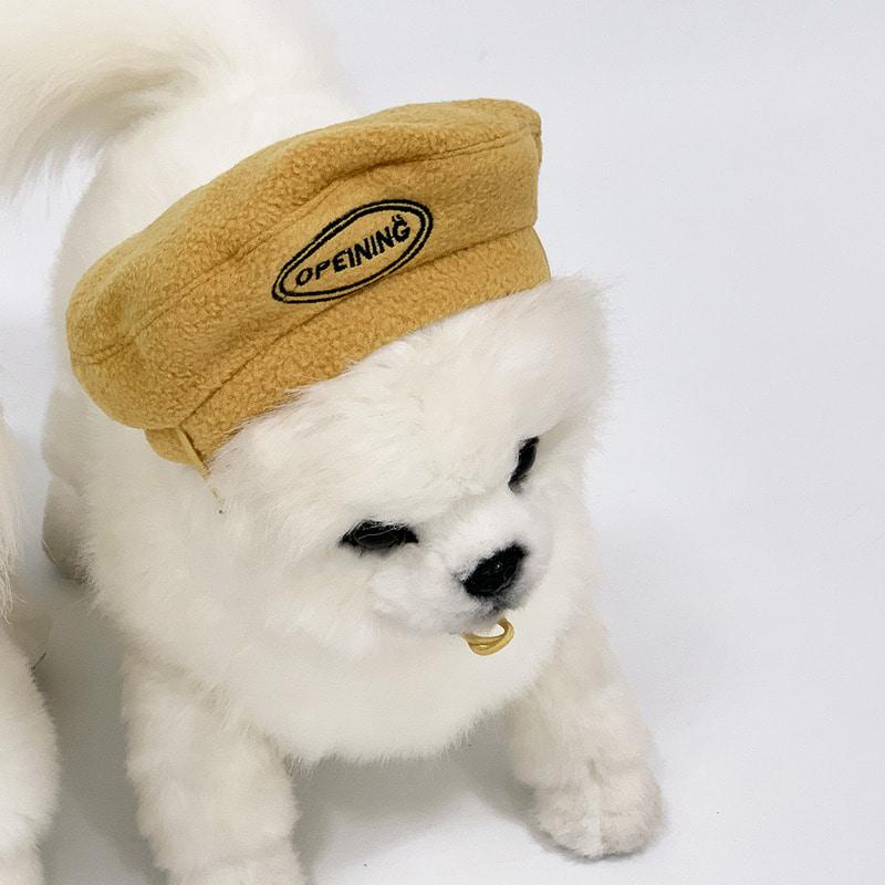 유앤펫 강아지 고양이 플리스 후리스 컬러 베레모