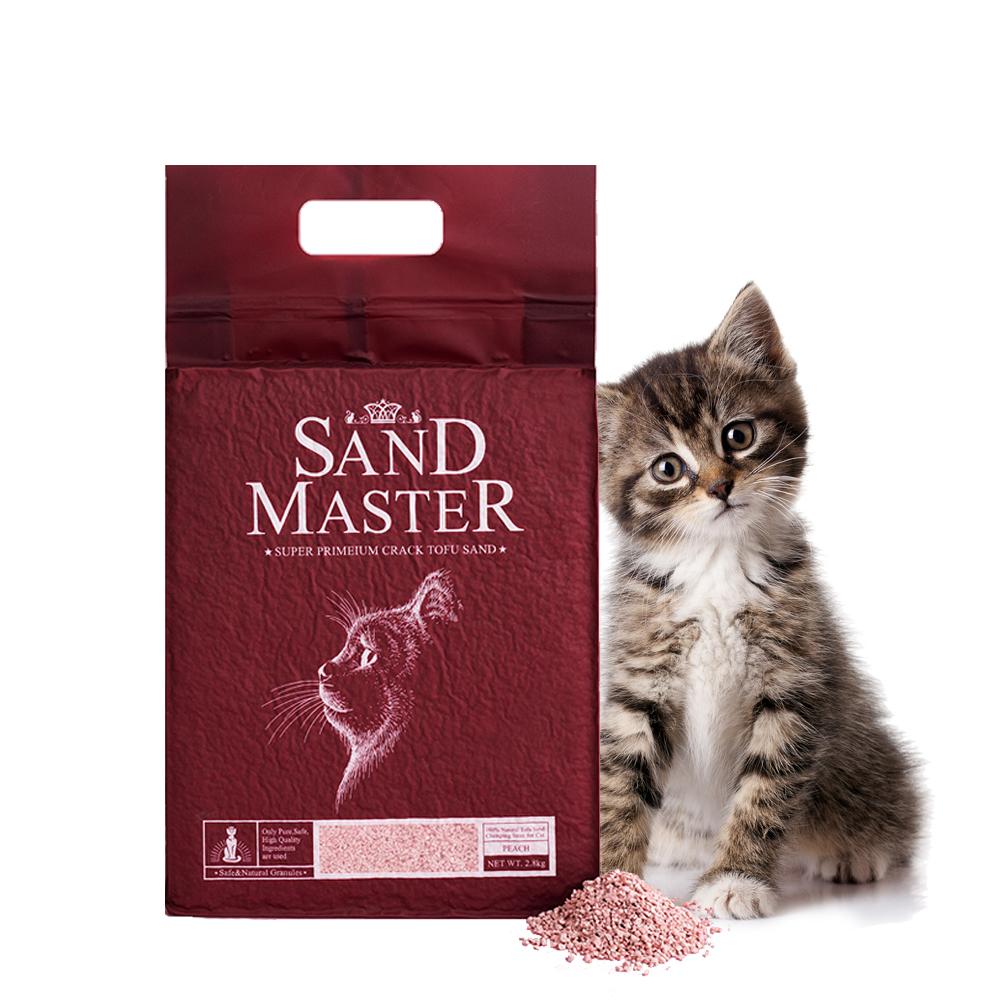 샌드마스터 고양이 크랙 두부 모래 복숭아 7L