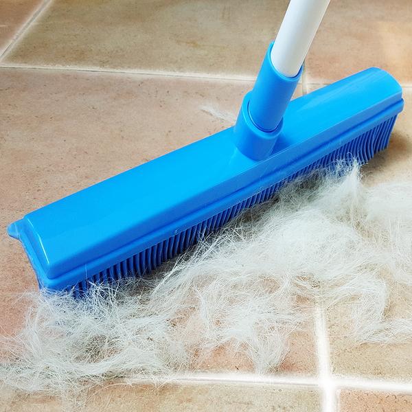 티에프펫 강아지 고양이 털제거 실리콘 빗자루