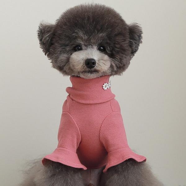 소매프릴 목폴라 핑크