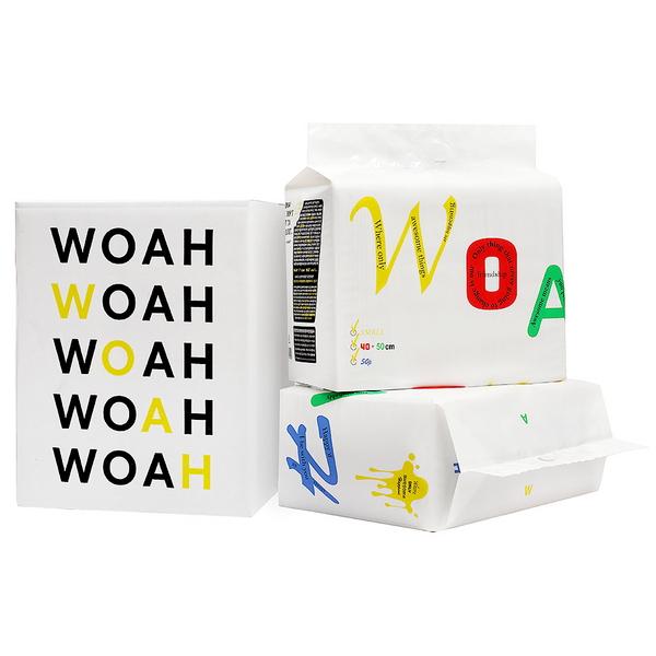 우와(WOAH) 발도장이찍히지않는 소형 100매 우와배변패드