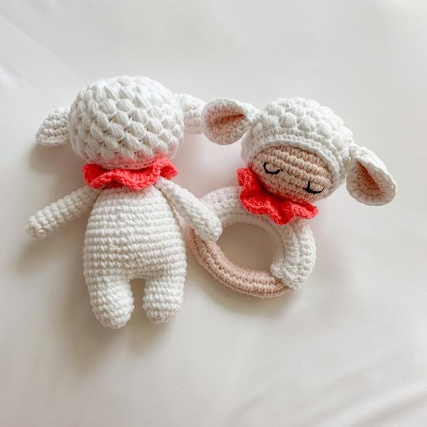 양 메리 치발기 딸랑이 강아지 이갈이장난감