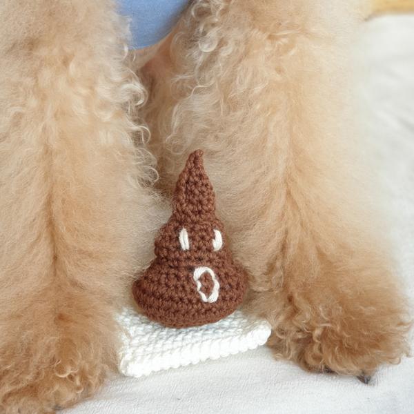 개달당 응가 바스락 삑삑 강아지장난감 1P