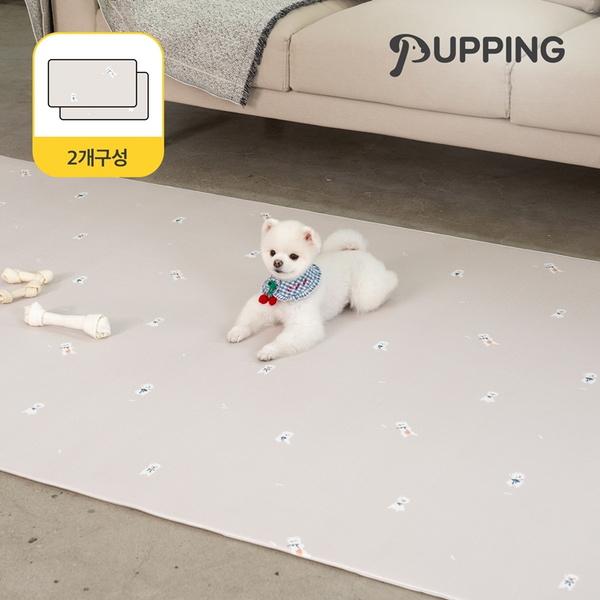 [2개구성] 퍼핑 펫매트 러그타입 견종디자인 M (200X140X0.6cm) 5종택1