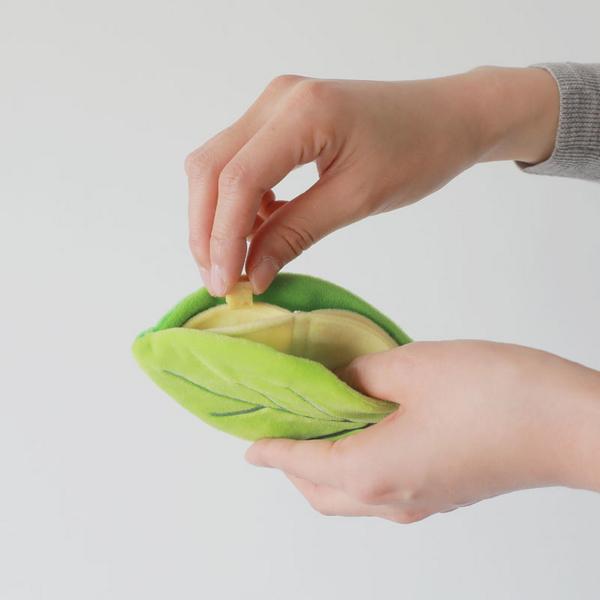 푼푼 노즈워크 바스락 나뭇잎 장난감 레드