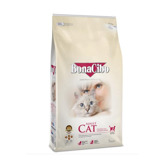 보나시보 고양이 사료 닭고기와 멸치 5kg