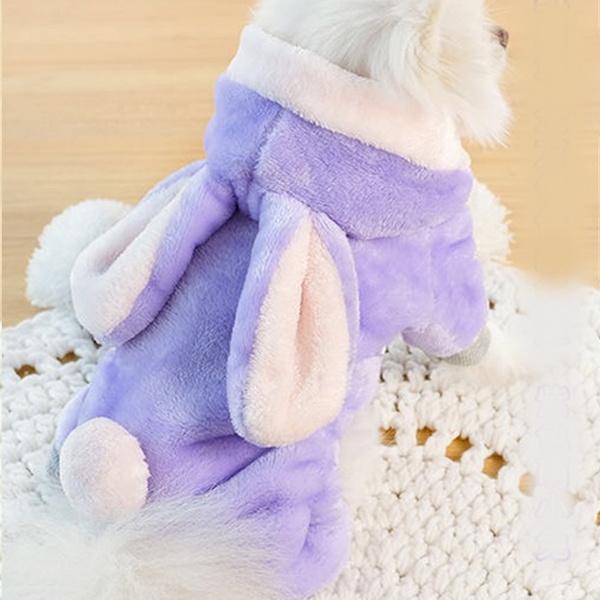 [멍냥왕국] 토끼 극세사 올인원 - 퍼플 / 강아지 겨울올인원 / 멍멍이겨울옷