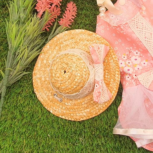 벚꽃소녀 밀짚모자