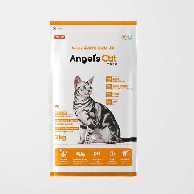 엔젤스캣 전연령 고양이 사료 2kg