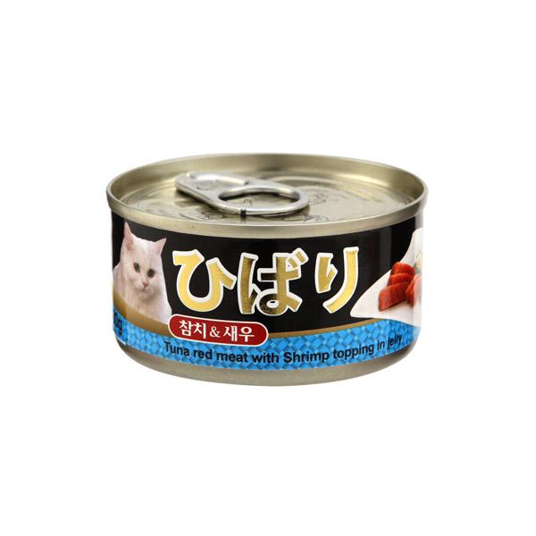 히바리 고양이 캔 참치새우 80g