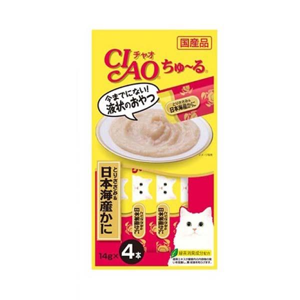 이나바 고양이 챠오츄르 닭가슴살 게살 14g 4개입