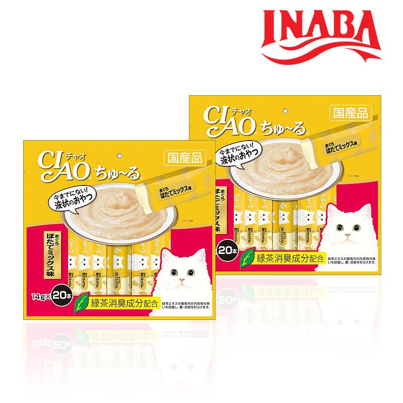 이나바 고양이 챠오츄르 참치 조갯살 믹스맛 14gx20개입