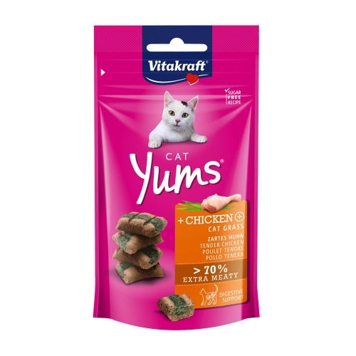 비타크래프트 고양이 간식 캣얌 치킨 캣그라스 40g
