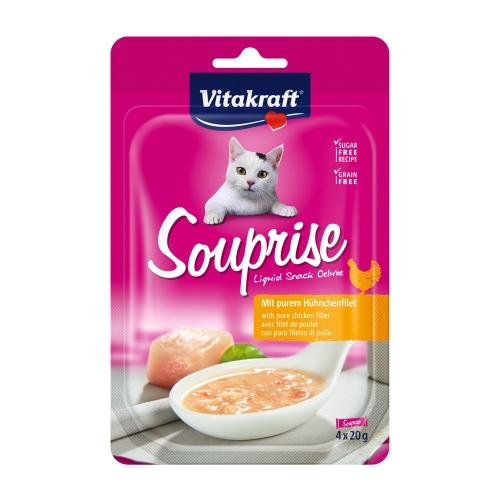 비타크래프트 고양이 간식 미슐랭 수프라이즈 치킨 20g 4개