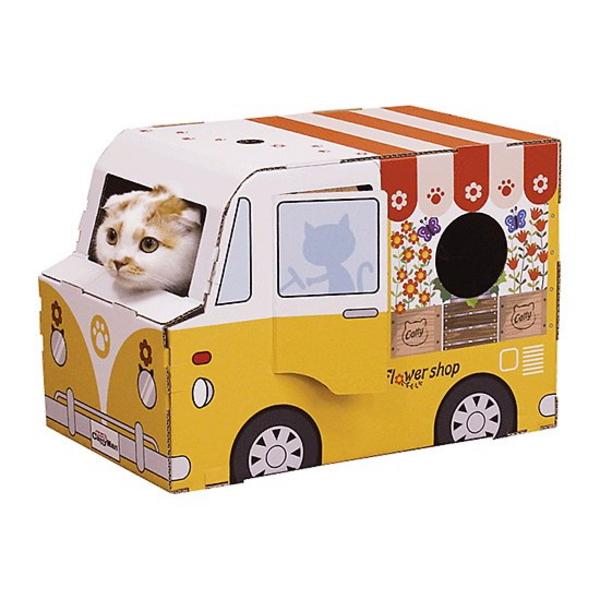 캐티맨 고양이 하우스형 플라워샵 스크래쳐