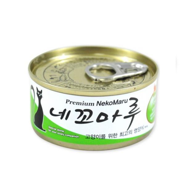 네꼬마루 고양이 캔 참치 게살 80g