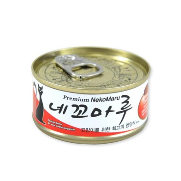네꼬마루 고양이 캔 참치 닭고기 80g