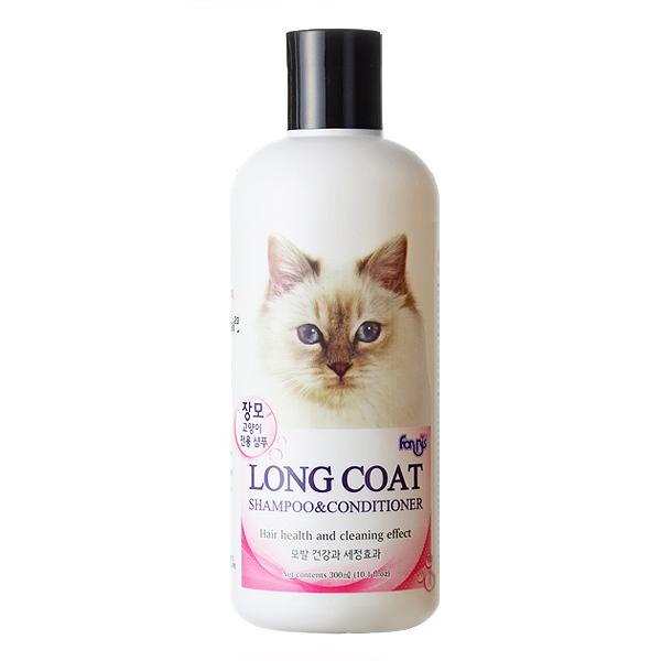 포켄스 고양이 장모용 샴푸 컨디셔너 300ml